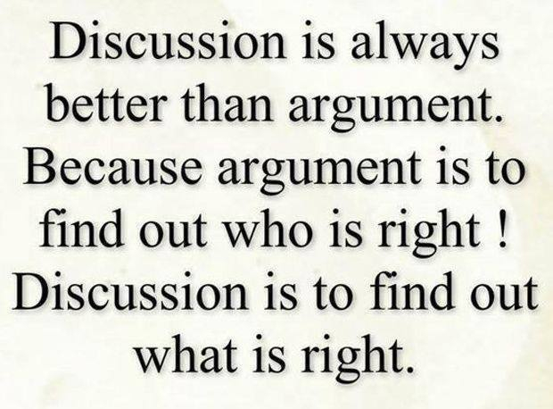 Relationships and arguing